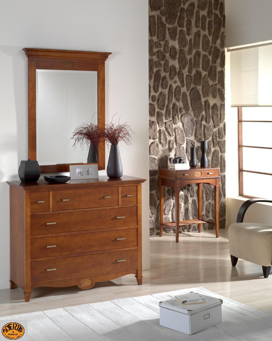 Mesa escritorio,comoda y espejo