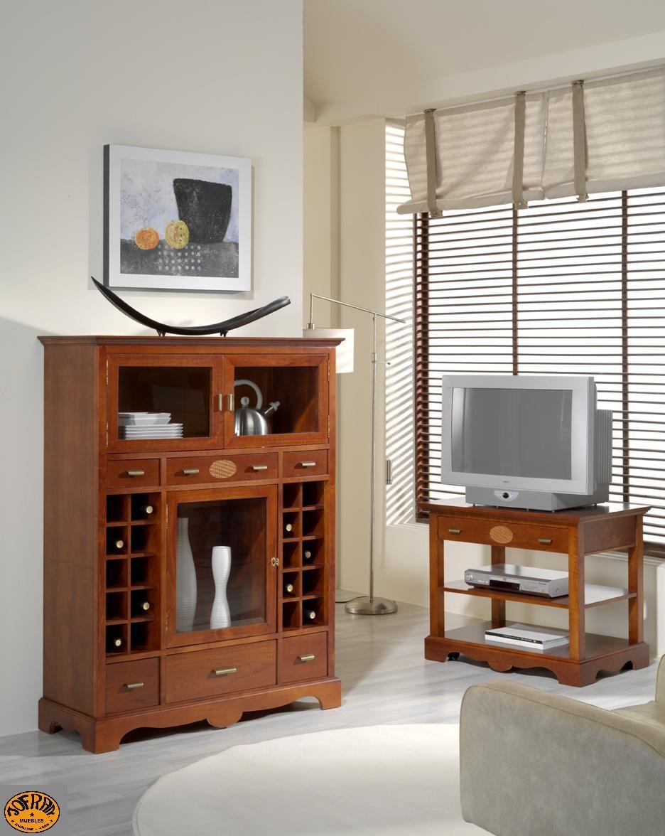 Mesa tv y botellero